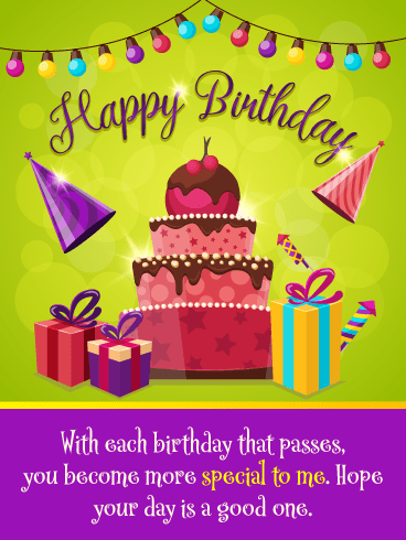 Party Hats & Presents – Happy Birthday Card