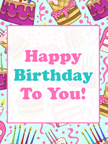 Celebration Cake Pattern – Happy Birthday Card