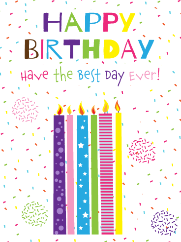 Special Celebration Candles – Happy Birthday Card