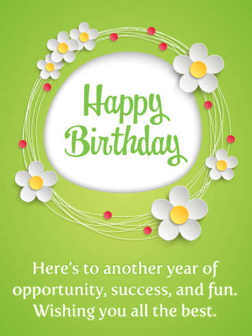 Pretty Daisies – Happy Birthday Card