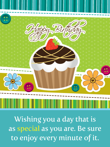 Enjoy a Cupcake – Happy Birthday Card