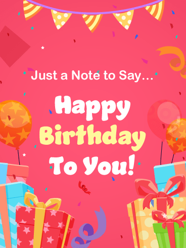 A Festive Note – Happy Birthday Card