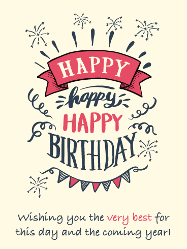 Wishing You the Very Best – Happy Birthday Card
