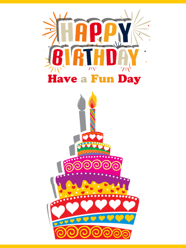 Creative Cake – Happy Birthday Card