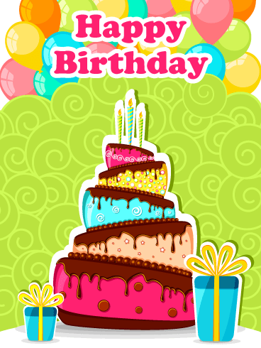 Wonderful Colors – Happy Birthday Card
