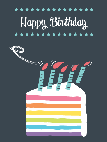 Cake & Candles – Happy Birthday Card