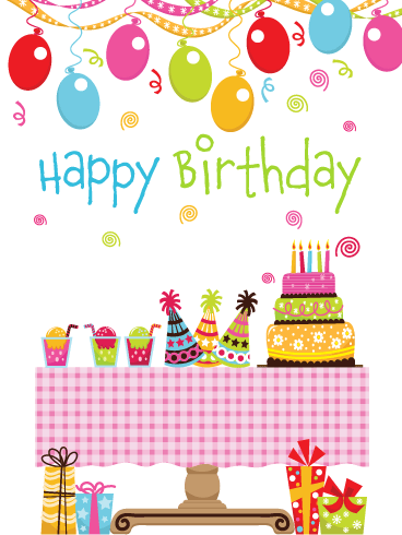 Time to Start the Party – Happy Birthday Card