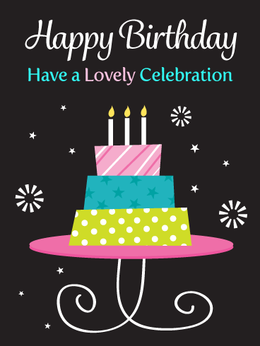 A Lovely Celebration – Happy Birthday Card