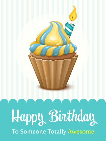 Retro Style Cupcake! Happy Birthday Card