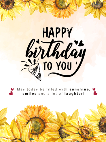 Sunny Sunflower – Happy Birthday Card