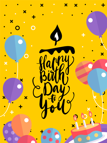 Fancy Birthday Party – Happy Birthday Card