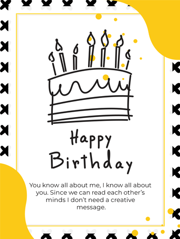 Cake's Drawing – Happy Birthday Card