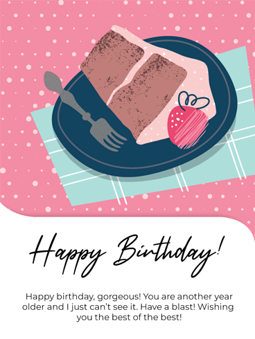 A Slice On A Plate – Happy Birthday Card