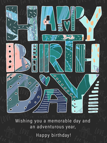 Fancy Yet Aesthetic – Happy Birthday Card