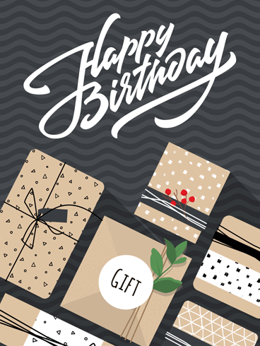 More & More Presents! – Happy Birthday Card