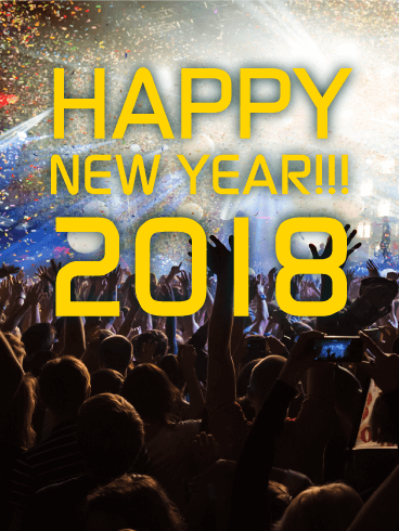 Let's Party! Happy New Year Card 2018