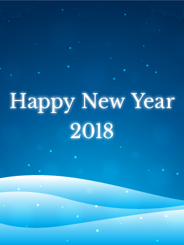 Calm Snowland  Happy New Year Card 2018