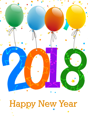 Celebrating New Year Card 2018