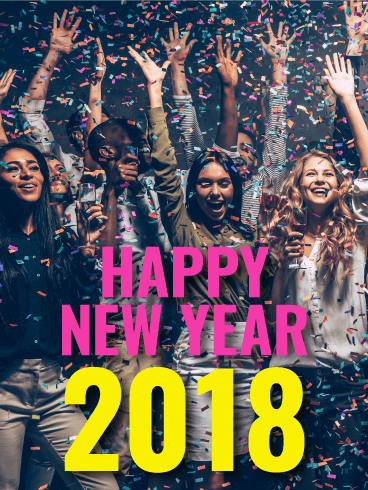 Time to Celebrate! Happy New Year Card 2018