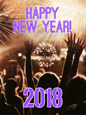 The Time Has Come! Happy New Year Card 2018