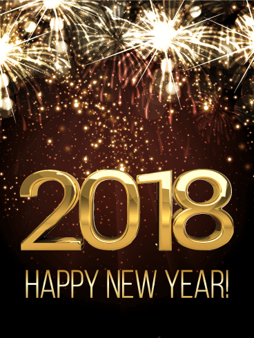 shining new year fireworks card 2018 birthday   greeting Awesome Word Clip Art Gold Star Clip Art