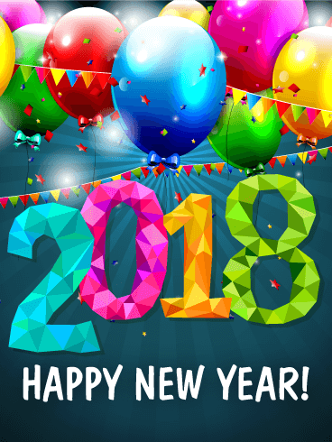 Fun New Year Party Card 2018