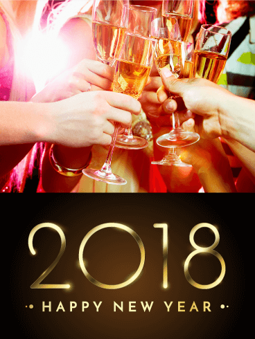 It's Time to Celebrate! Happy New Year Card 2018