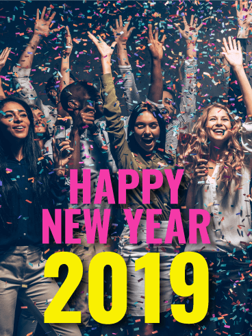Time to Celebrate! Happy New Year Card 2019