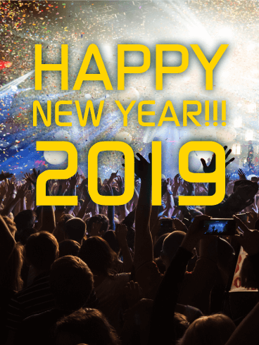 Let's Party! Happy New Year Card 2019