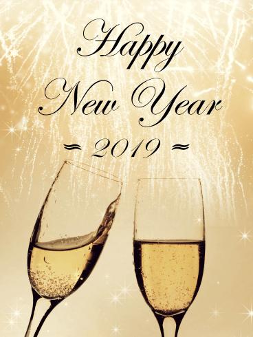 Elegant happy new year card 2019 birthday greeting cards by davia elegant happy new year card 2019 m4hsunfo