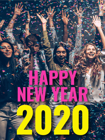 Time to Celebrate! Happy New Year Card 2020