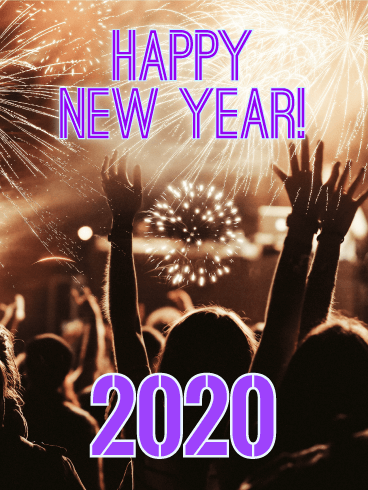 The Time Has Come! Happy New Year Card 2020