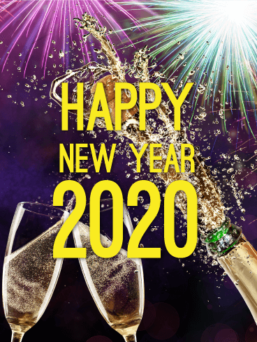 Cheers to You! Happy New Year Card 2020
