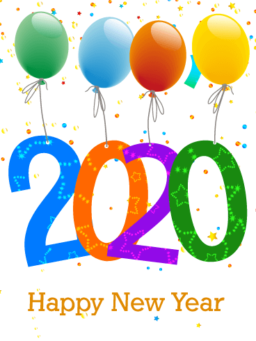 Celebrating New Year Card 2020