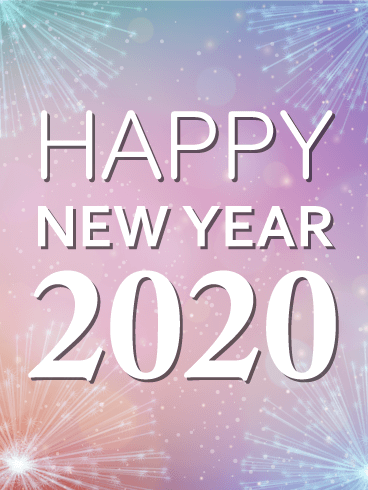 Shining New Year Card 2020