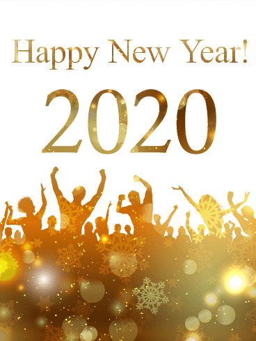 Golden New Year Party Card 2020