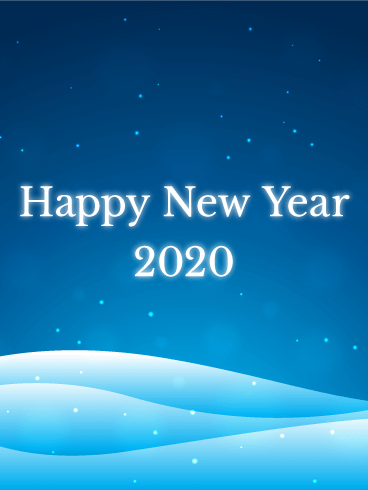 Calm Snowland  Happy New Year Card 2020