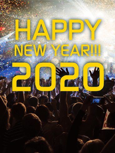 Let's Party! Happy New Year Card 2020