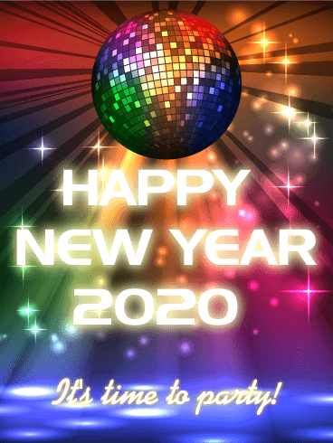 It's Time to Party! Happy New Year Card 2020