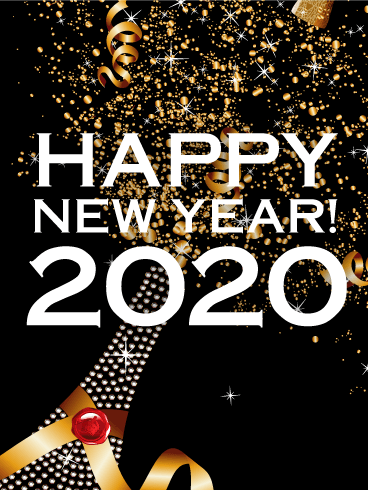 Luxury New Year Party Card 2020