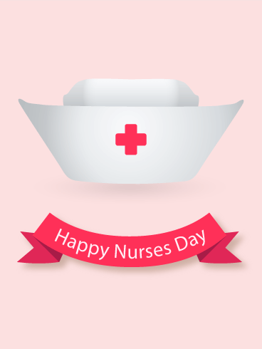 Happy Nurse Day Nurse Hat Card