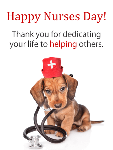 Helping Others! Happy Nurses Day Card
