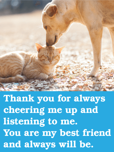 Thank You for Cheering Me Up - Friendship Card