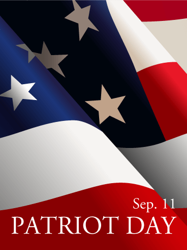 Patriot Day Waving Flag Card