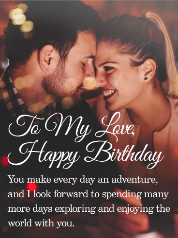 Photo Birthday Cards For Lover
