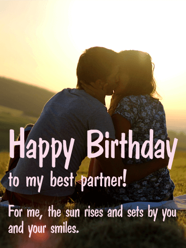 To my Best Partner - Happy Birthday Card
