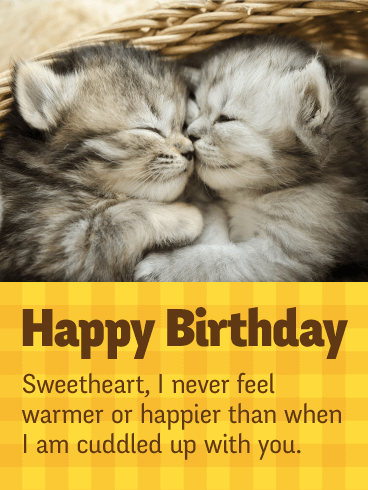 I Love Cuddling up with You - Happy Birthday Card