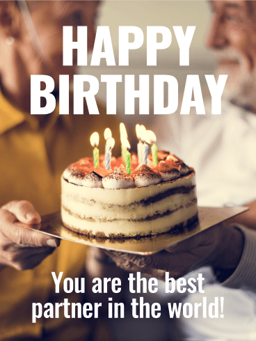 To the Best Partner in the World - Happy Birthday Card