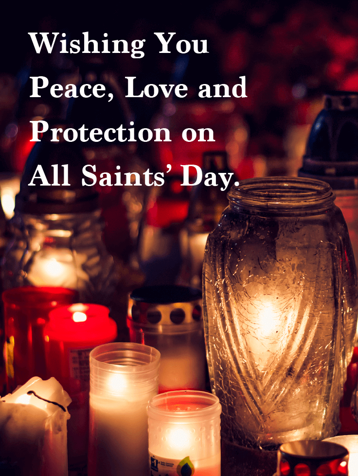 Peace, Love and Protection - All Saints' Day Card