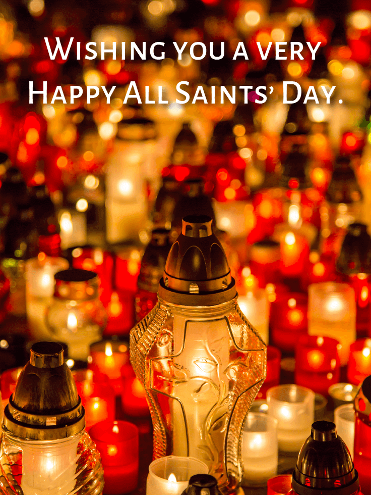 Thinking of Them Today and Always - All Saints' Day Card